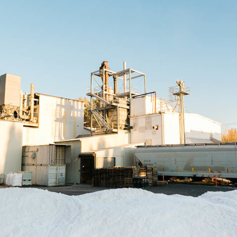 Supreme Perlite Factory with Perlite Stack